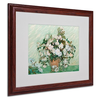 Trademark Fine Art Roses 1890 16 x 20 Wood Frame Art