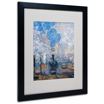 Trademark Fine Art Saint Lazare Station 16 x 20 Black Frame Art