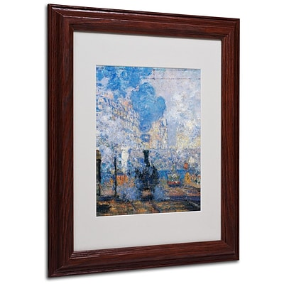 Trademark Fine Art Saint Lazare Station 11 x 14 Wood Frame Art
