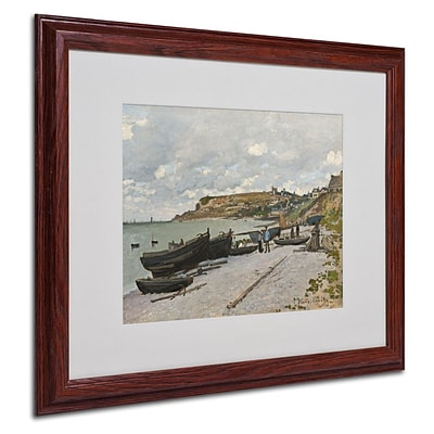Trademark Fine Art Sainte-Adresse 1867 16 x 20 Wood Frame Art