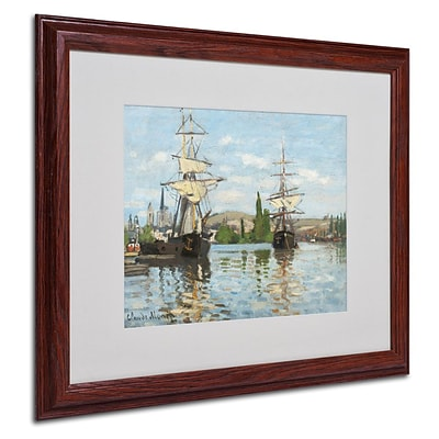Trademark Fine Art Ships Riding On the Seine 16 x 20 Wood Frame Art