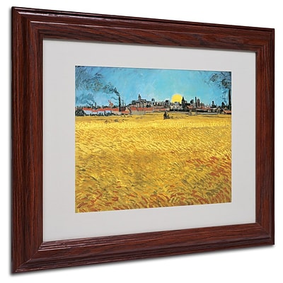 Trademark Fine Art Summer Evening 1888 11 x 14 Wood Frame Art