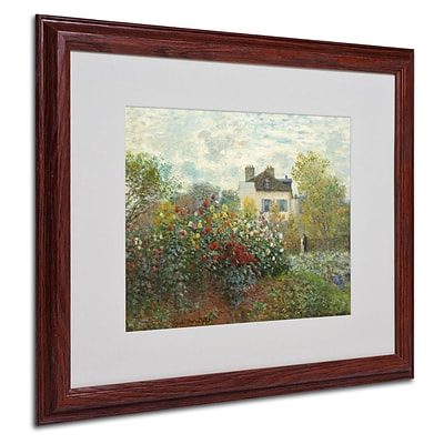 Trademark Fine Art The Artists Garden 16 x 20 Wood Frame Art