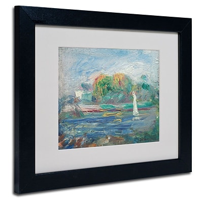 Trademark Fine Art The Blue River 1890-1900 11 x 14 Black Frame Art