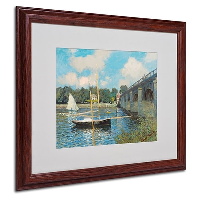 Trademark Fine Art The Bridge at Argenteuil 16 x 20 Wood Frame Art