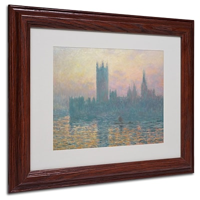 Trademark Fine Art The Houses of Parliament 11 x 14 Wood Frame Art