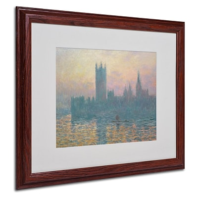 Trademark Fine Art The Houses of Parliament 16 x 20 Wood Frame Art