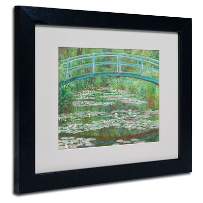 Trademark Fine Art The Japanese Footbridge 11 x 14 Black Frame Art