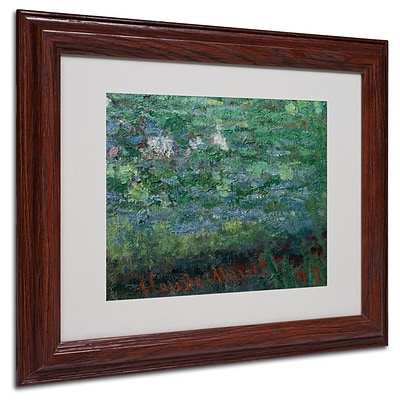Trademark Fine Art The Waterlily Pond Green 11 x 14 Wood Frame Art