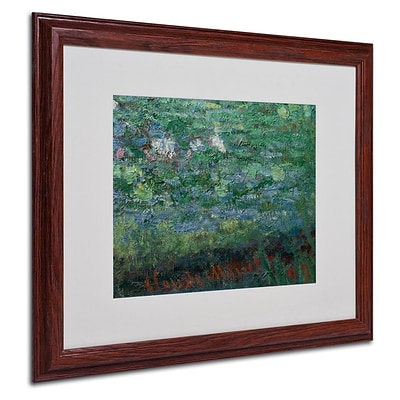 Trademark Fine Art The Waterlily Pond Green 16 x 20 Wood Frame Art