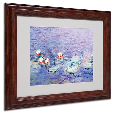 Trademark Fine Art Water Lilies II 1840-1926 11 x 14 Wood Frame Art