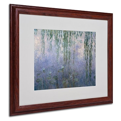 Trademark Fine Art Water Lilies III 1840-1926 16 x 20 Wood Frame Art