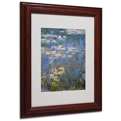 Trademark Fine Art Water Lilies IV 1840-1926 11 x 14 Wood Frame Art