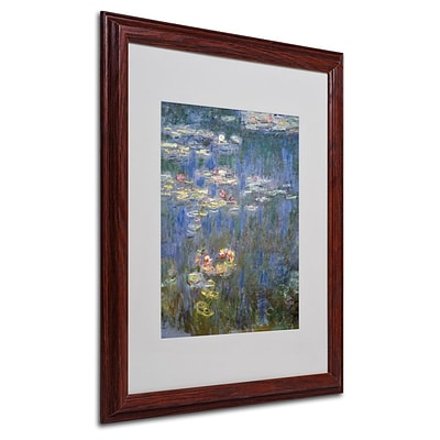 Trademark Fine Art Water Lilies IV 1840-1926 16 x 20 Wood Frame Art
