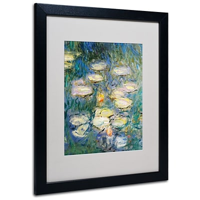 Trademark Fine Art Water Lilies V 1840-1926 16 x 20 Black Frame Art