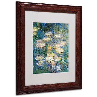 Trademark Fine Art Water Lilies V 1840-1926 11 x 14 Wood Frame Art