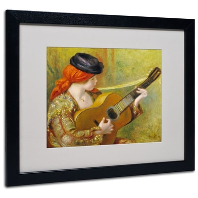 Trademark Fine Art Young Spanish Woman 16 x 20 Black Frame Art