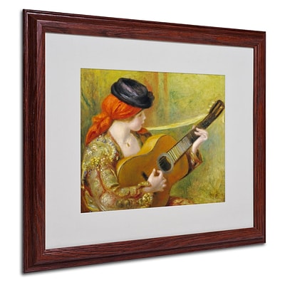 Trademark Fine Art Young Spanish Woman 16 x 20 Wood Frame Art
