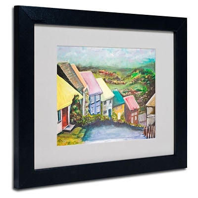 Trademark Fine Art English Countryside 11 x 14 Black Frame Art