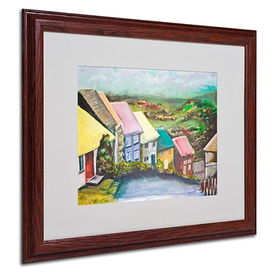 Trademark Fine Art English Countryside 16 x 20 Wood Frame Art