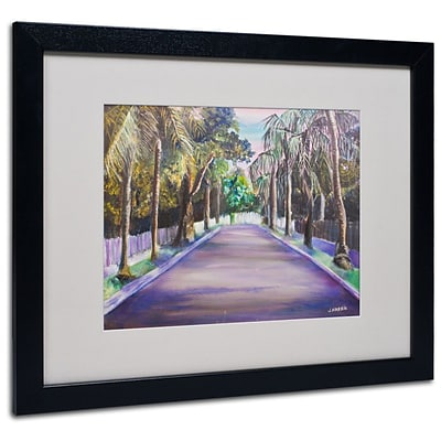 Trademark Fine Art Key West Street 16 x 20 Black Frame Art