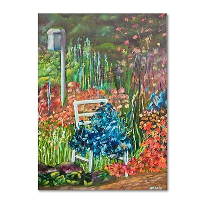 Trademark Fine Art Serene Garden 24 x 32 Canvas Art