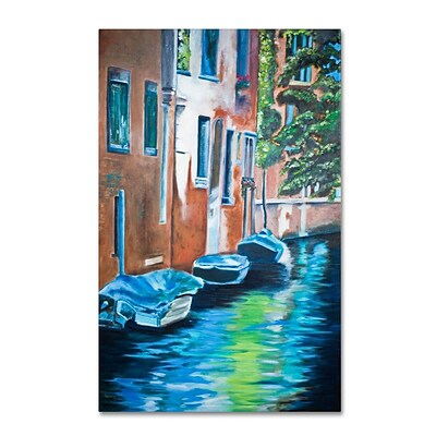 Trademark Fine Art Venice Boats 30 x 47 Canvas Art