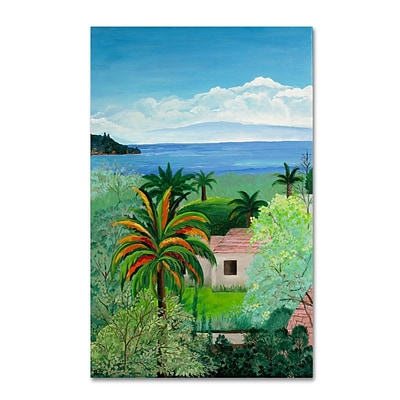 Trademark Fine Art Costa Rican Beach 30 x 47 Canvas Art