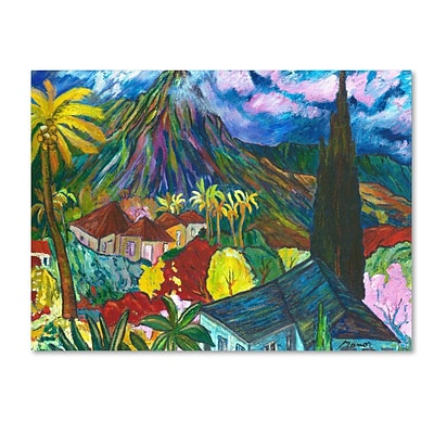 Trademark Fine Art House By the Mountain 35 x 47 Canvas Art