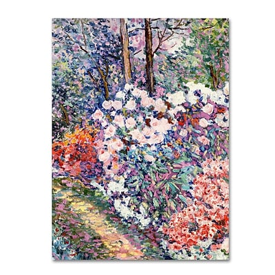 Trademark Fine Art Flowers In the Forest 14 x 19 Canvas Art