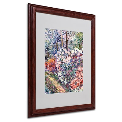 Trademark Fine Art Flowers In the Forest 16 x 20 Wood Frame Art