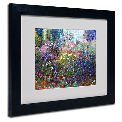 Trademark Fine Art Garden In Maui II 11 x 14 Black Frame Art