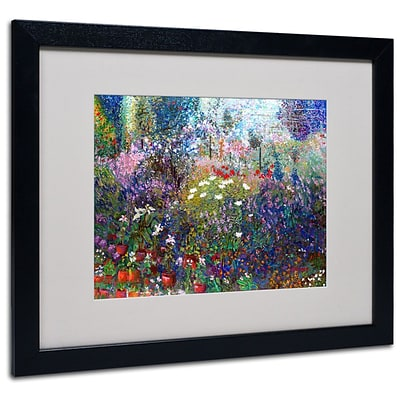 Trademark Fine Art Garden In Maui II 16 x 20 Black Frame Art