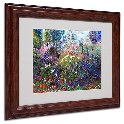 Trademark Fine Art Garden In Maui II 11 x 14 Wood Frame Art