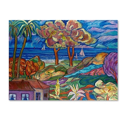 Trademark Fine Art House By the Beach 24 x 32 Canvas Art