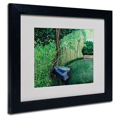 Trademark Fine Art Two Boats 11 x 14 Black Frame Art
