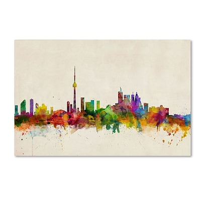 Trademark Fine Art Toronto, Canada 22 x 32 Canvas Art