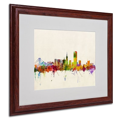 Trademark Fine Art San Francisco, CA 16 x 20 Wood Frame Art