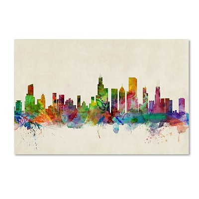 Trademark Fine Art Chicago, Illinios 30 x 47 Canvas Art