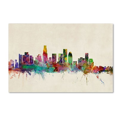 Trademark Fine Art Los Angeles, California 22 x 32 Canvas Art
