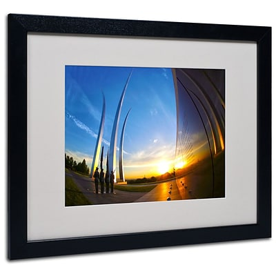 Trademark Fine Art Air Force Memorial 15 16 x 20 Black Frame Art