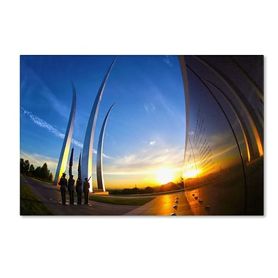 Trademark Fine Art Air Force Memorial 15 30 x 47 Canvas Art