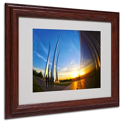 Trademark Fine Art Air Force Memorial 15 11 x 14 Wood Frame Art