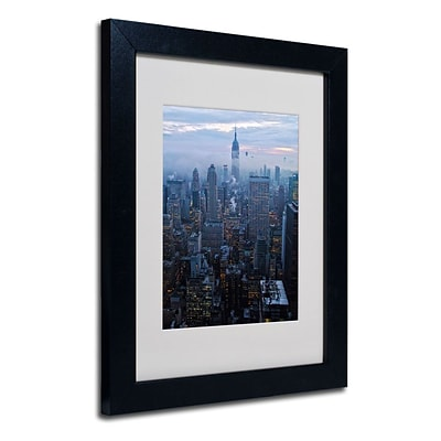 Trademark Fine Art City Lights 11 x 14 Black Frame Art