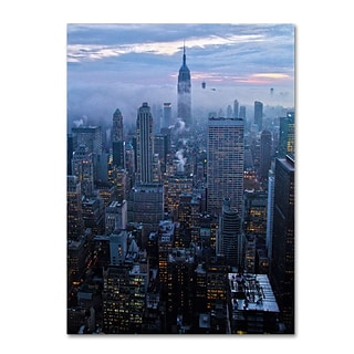 Trademark Fine Art City Lights 24 x 32 Canvas Art