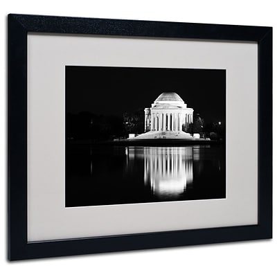 Trademark Fine Art Jefferson Memorial 16 x 20 Black Frame Art