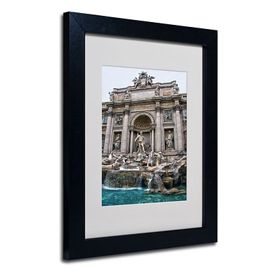 Trademark Fine Art Trevi Fountain 11 x 14 Black Frame Art