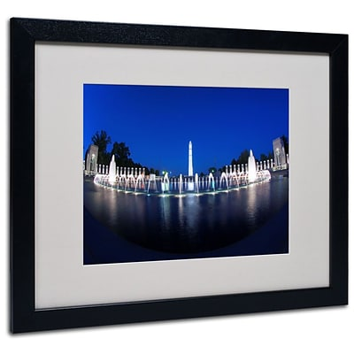 Trademark Fine Art Twilight 16 x 20 Black Frame Art