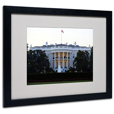Trademark Fine Art White House 16 x 20 Black Frame Art