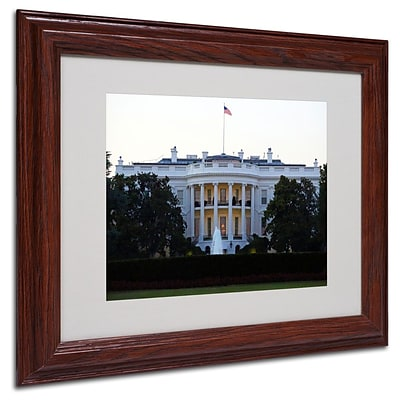 Trademark Fine Art White House 11 x 14 Wood Frame Art